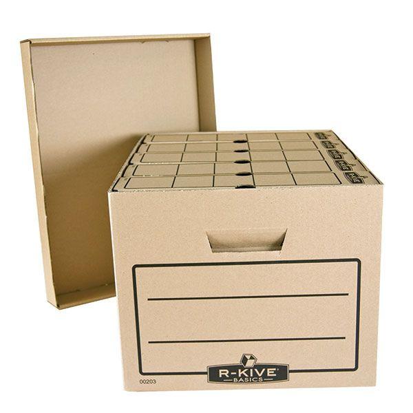 Короб архивный FELLOWES R-Kiver340x450x275 серый картон с крышкой