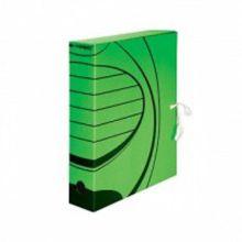 Короб архивный inФОРМАТ А4 зел. микрогофро-картон 75 мм