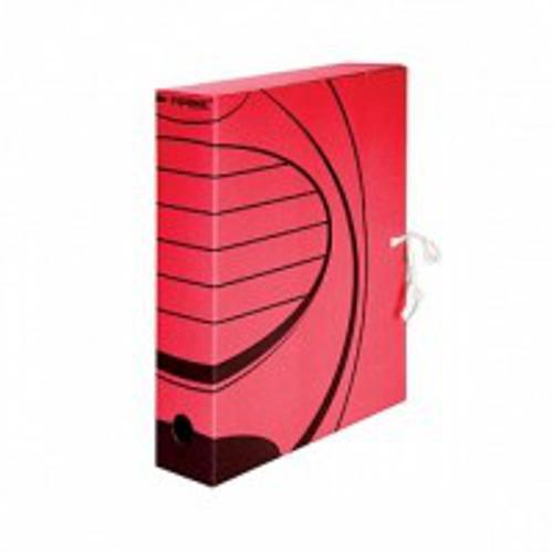 Короб архивный inФОРМАТ А4 красн. микрогофро-картон 75 мм