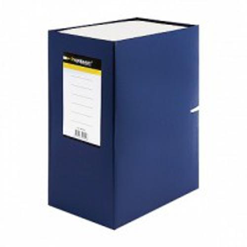 Короб архивный inФОРМАТ А4 синий бумвинил 140 мм сборный
