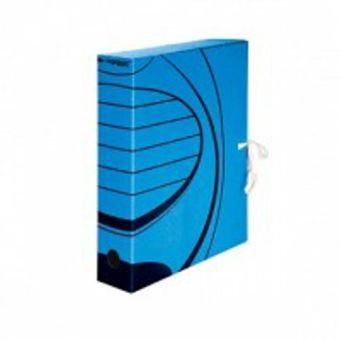 Короб архивный inФОРМАТ А4 синий микрогофро-картон 75 мм