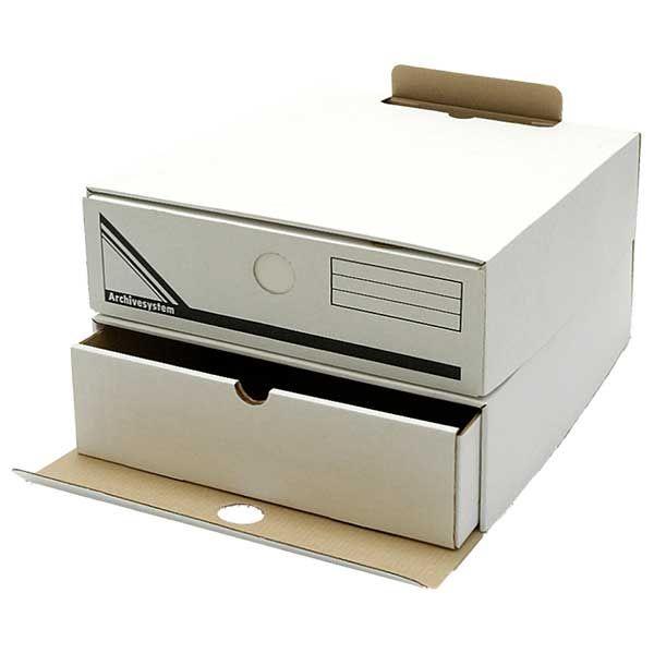 Короб архивный ОФИССТАНД. белый картон 2 ячейки