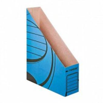 Накопитель inФОРМАТ А4 синий микрогофро-картон 75 мм