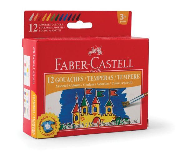 Гуашь FABER-CASTELL 15 мл 12 цв.