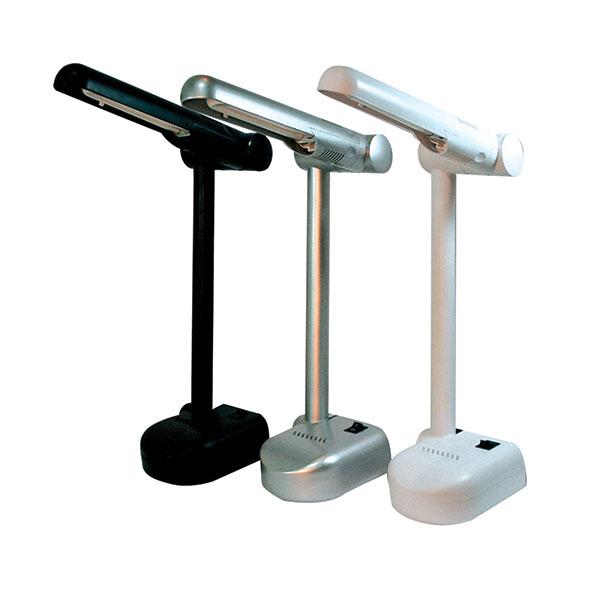 Лампа настольная люмин. KD-001/c серый 9 Вт