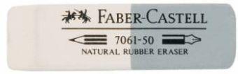 Ластик FABER-CASTELL 7061 50х16х7 мм комбин. белый-сер. каучук д/граф.каранд.