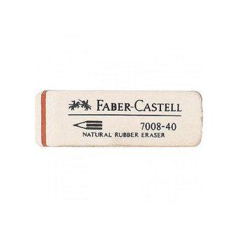 Ластик FABER-CASTELL каучук д/черногр.каранд.с держателем карт.уп.