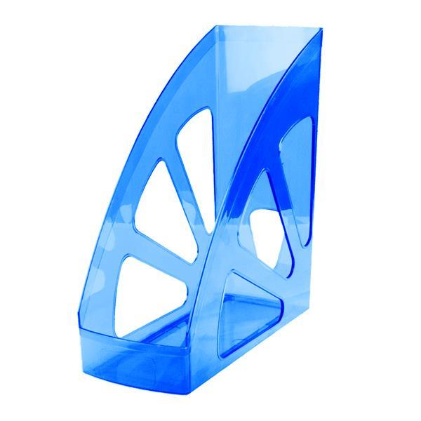 Лоток вертик. inФОРМАТ UNIVERSAL синий пластик 100 мм
