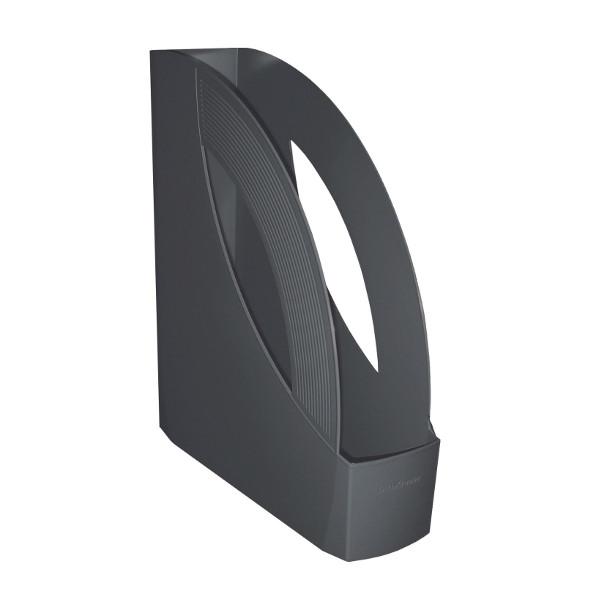 Лоток вертик. RAINBOW т.-серый пластик 75 мм