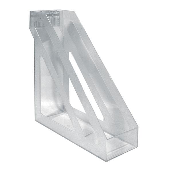 Лоток вертик. БАЗИС 100 мм прозр. пластик