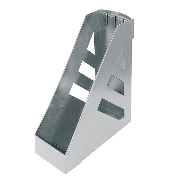 Лоток вертик. СТАММ УЛЬТРА 100 мм серый пластик