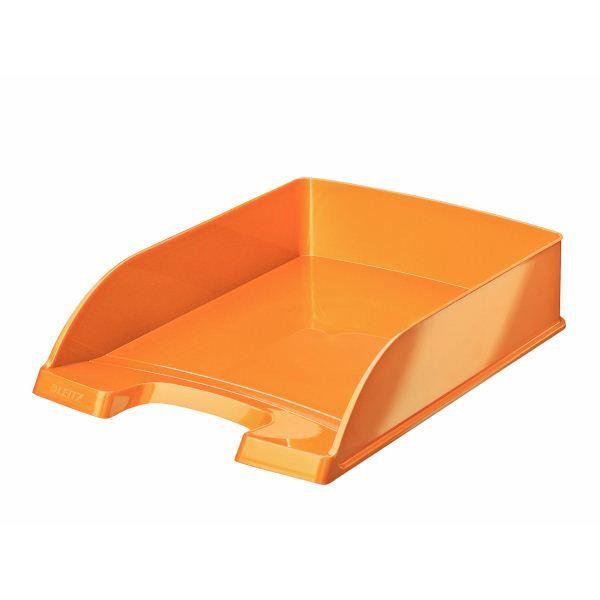 Лоток горизонт. LEITZ WOW оранж. пластик