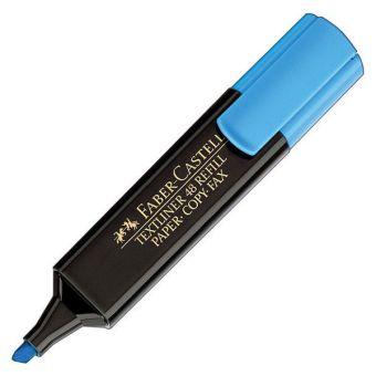 Маркер текстов. FABER 1548 1-5 мм синий скошенный