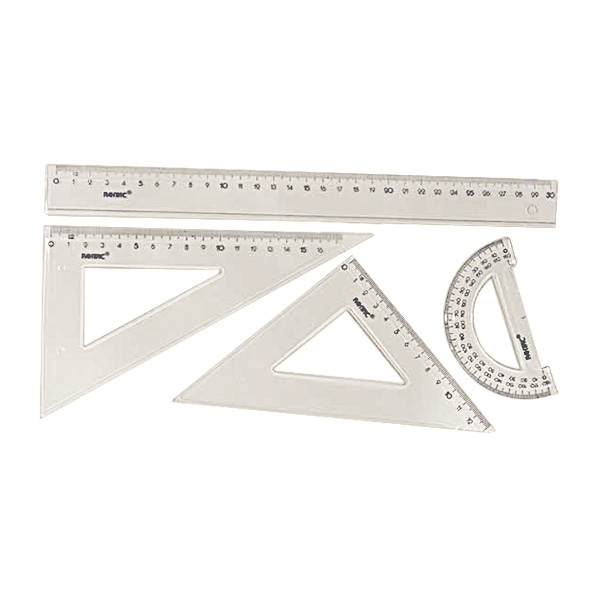 Набор геометр. 4 пр. бол. прозр.