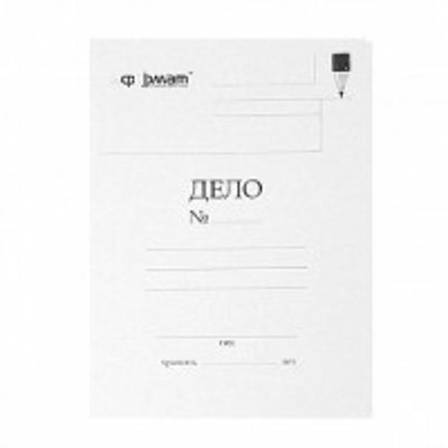 Папка-обложка  inФОРМАТ ДЕЛО А4 белый картон немелованный 400 г/м2
