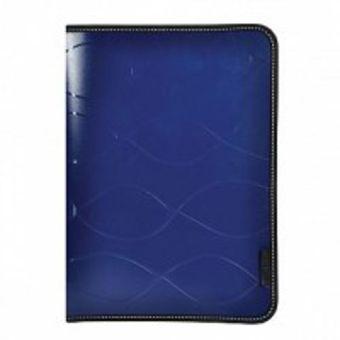 Папка на молнии inФОРМАТ SAFE А4 синий пластик 0,5 мм карман