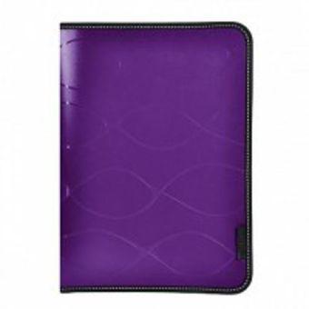 Папка на молнии inФОРМАТ SAFE А4 фиолетовый пластик 0,5 мм карман