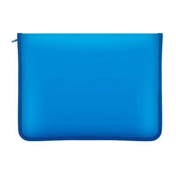 Папка на молнии ЛАСПИ-М А4 голубой пластик