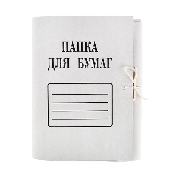 Папка с завязками ДЕЛО А4 белый картон немелованный 280г/м2