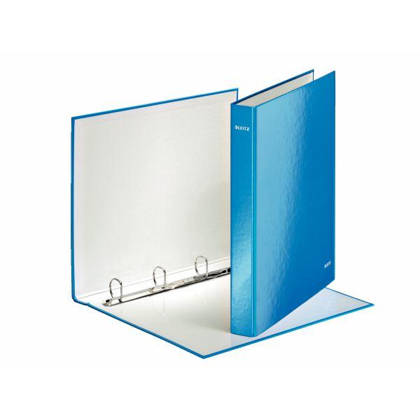 Папка с кольцами ESSELTE WOW 2 кольца А4 голубой пластик 25 мм