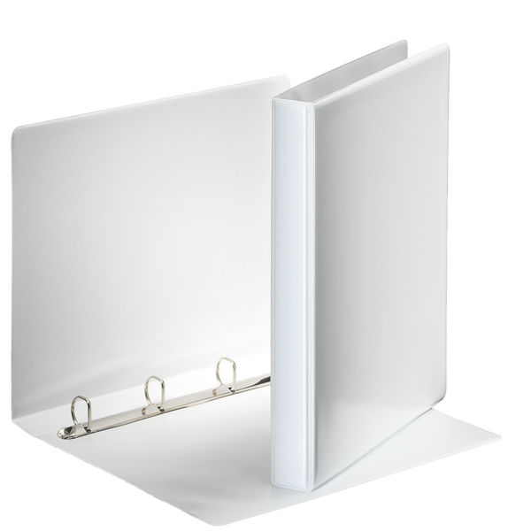 Папка с кольцами ESSELTE ПАНОРАМА 4 кольца А4 белый пластик 30 мм карман