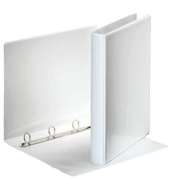 Папка с кольцами ESSELTE ПАНОРАМА 4 кольца А4 белый пластик 38 мм карман
