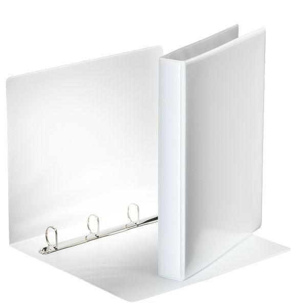 Папка с кольцами ESSELTE ПАНОРАМА 4 кольца А4 белый пластик 44 мм карман