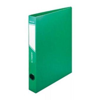 Папка с кольцами inФОРМАТ 4 кольца А4 зеленый пластик 40 мм карман