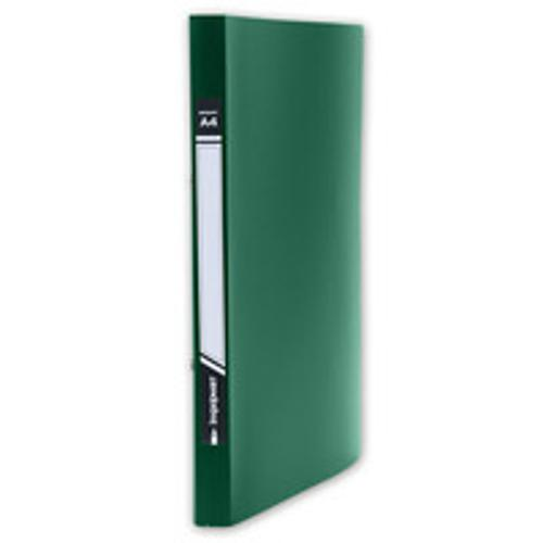 Папка с прижимами inФОРМАТ 1 зажим А4 зеленый пластик 0,55 мм карман