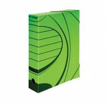 Папка с резинкой inФОРМАТ А4 зеленый микрогофра 75 мм