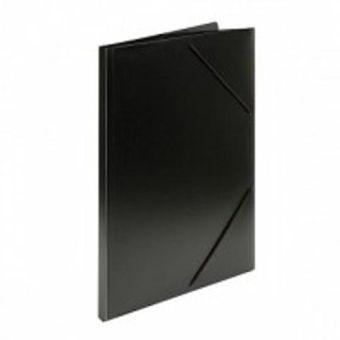 Папка с резинкой inФОРМАТ А4 черный пластик 33 мм