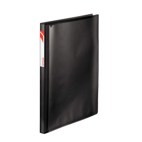 Папка с файлами ESSELTE ПАНОРАМА А4 черный пластик 20 файлов