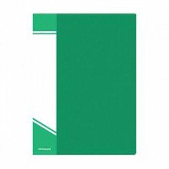 Папка с файлами inФОРМАТ 10 файлов А4 зеленый пластик карман