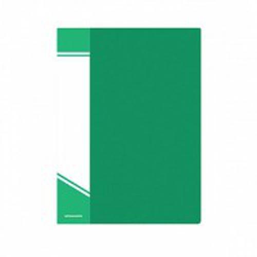 Папка с файлами inФОРМАТ 20 файлов А5 зеленый пластик карман