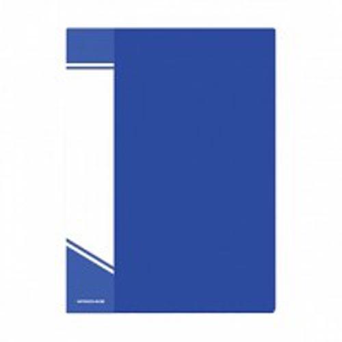Папка с файлами inФОРМАТ 60 файлов А4 синий пластик карман