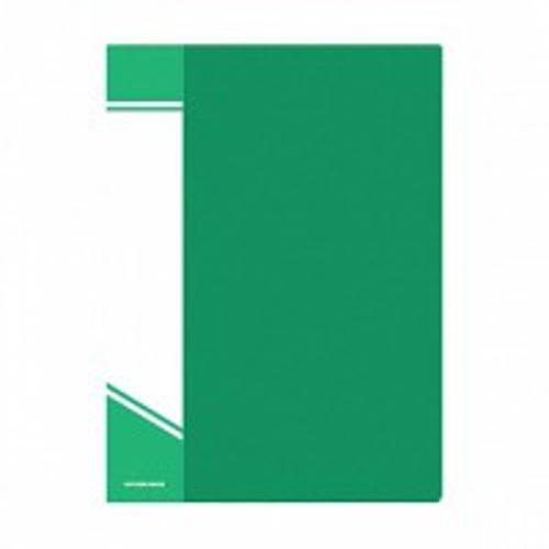 Папка с файлами inФОРМАТ 80 файлов А4 зеленый пластик карман