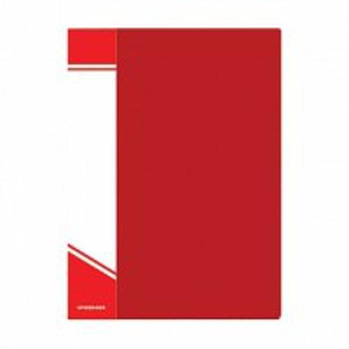 Папка с файлами inФОРМАТ 80 файлов А4 красный пластик карман