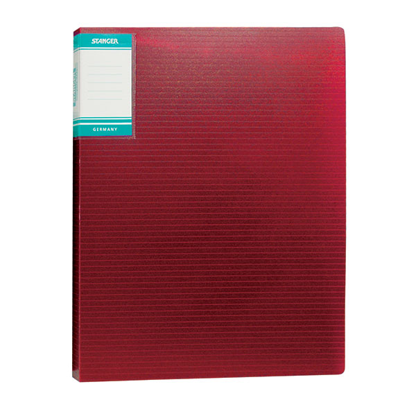 Папка с файлами STANGER HOR LINES 20 файлов А4 красный пластик карман