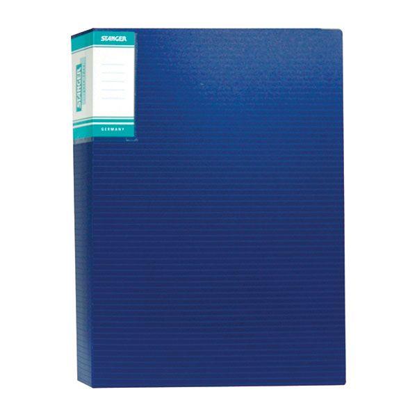 Папка с файлами STANGER HOR LINES 60 файлов А4 синий пластик карман