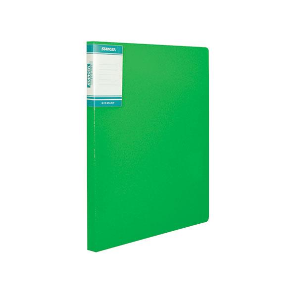 Папка скоросшиватель STANGER HOR LINES А4 зеленый пластик0,7мм карман