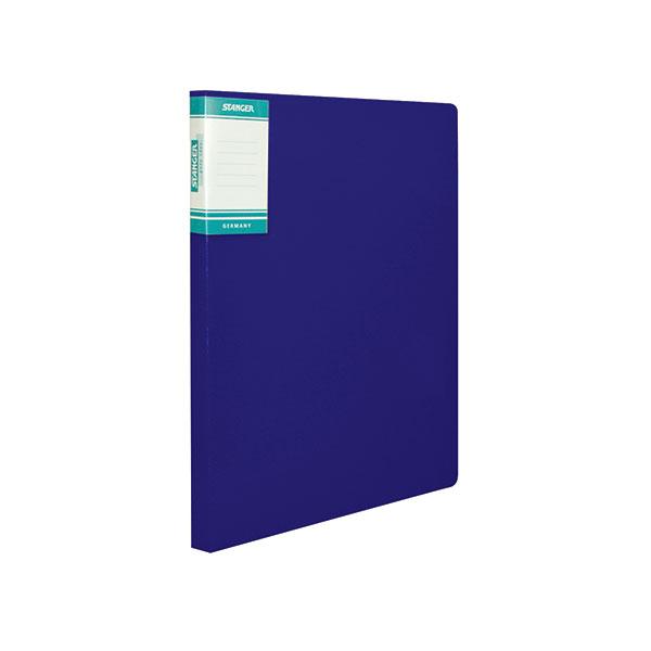 Папка скоросшиватель STANGER HOR LINES А4 синий пластик 0,7мм карман