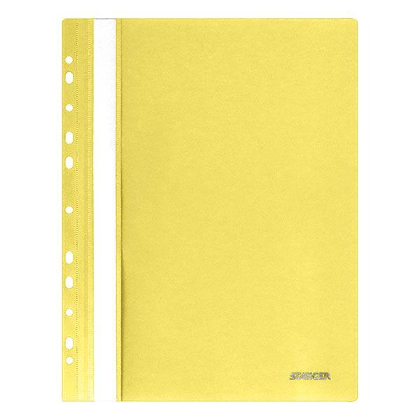 Папка скоросшиватель Stanger А4 желт. пластик 180 мкм перфор.