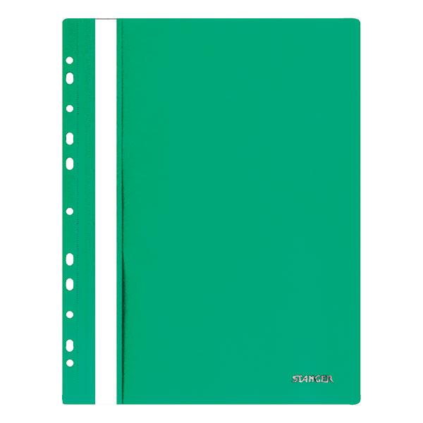Папка скоросшиватель Stanger А4 зелен. пластик 180 мкм перфор.