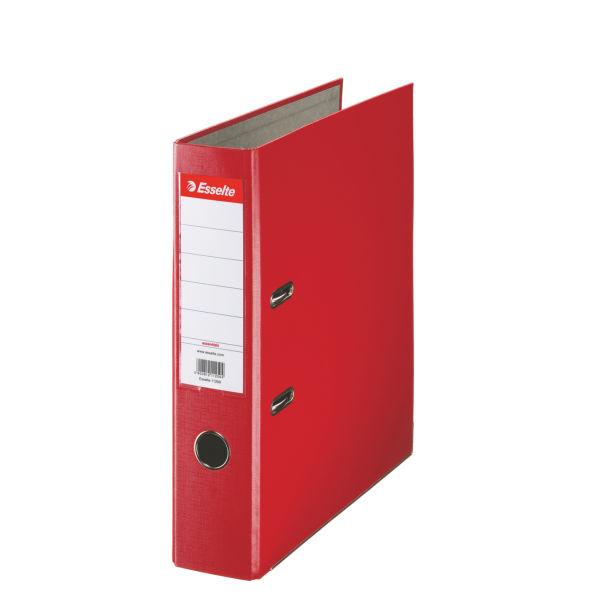 Папка-регистратор ESSELTE PP А4 красн. картон 75 мм метал.окант. карман