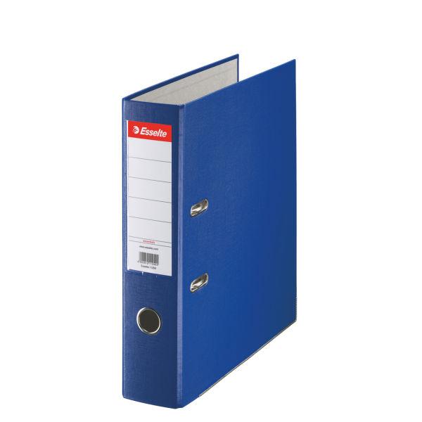 Папка-регистратор ESSELTE PP А4 синий картон 75 мм метал.окант. карман