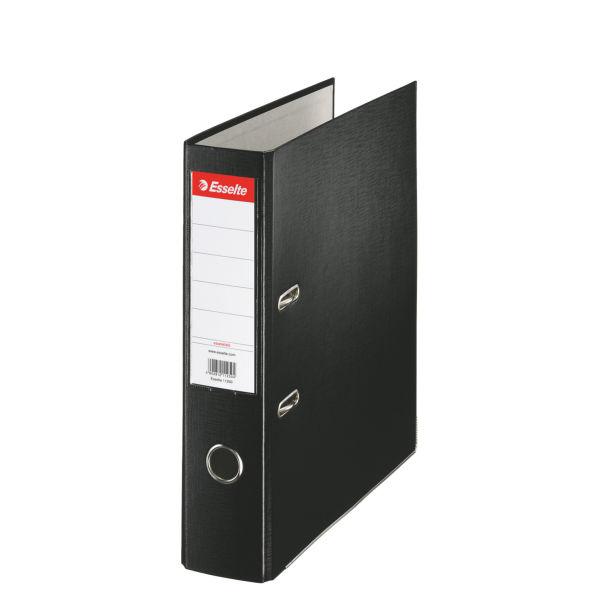 Папка-регистратор ESSELTE PP А4 черный картон 75 мм метал.окант. карман