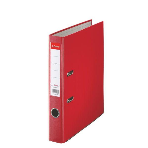 Папка-регистратор ESSELTE PVC А4 красн. картон 50 мм метал.окант. карман