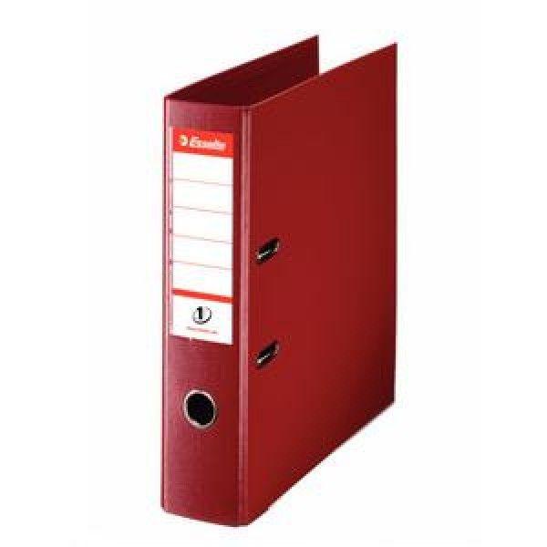 Папка-регистратор ESSELTE PVC А4 красн. картон 75 мм метал.окант. карман