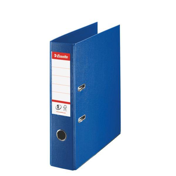 Папка-регистратор ESSELTE PVC А4 синий картон 75 мм метал.окант. карман