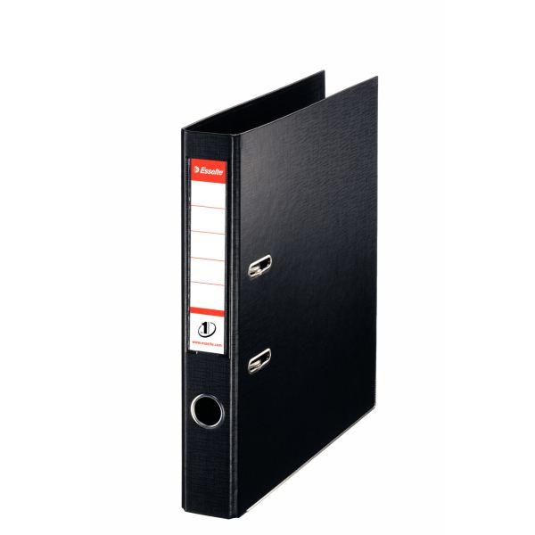 Папка-регистратор ESSELTE PVC А4 черный картон 50 мм метал.окант. карман